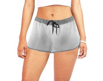 Women's Mid Rise Relaxed Shorts Grey Wash