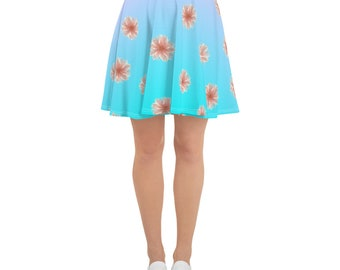 Flowered Skater Skirt