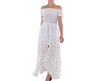 Chiffon Off Shoulder Dress