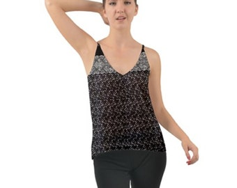Women's Chiffon Camisole Black lace
