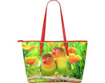 Large Tote Bag Love Birds