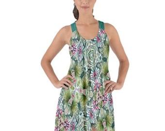 Women's String Back Chiffon Dress
