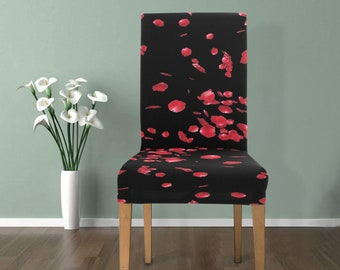 Chair Slip Cover Rose Petals