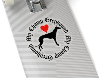 Kiss-Cut Stickers Champion Greyhound