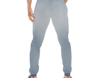 Men's blue Denim Wash Joggers