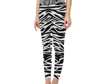 Women's High Waist Yoga Leggings Zebra Print