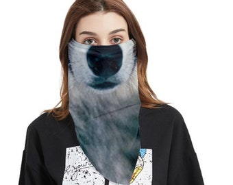 Bandana Face Cover wolf
