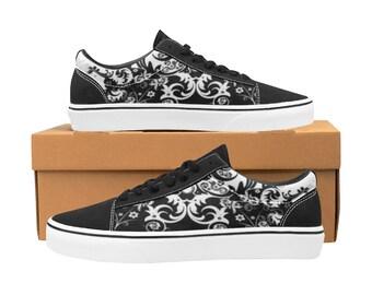 Women's Skateboard Shoes swirl lace