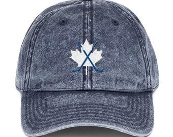 Vintage Cotton Twill Cap Hockey Canada