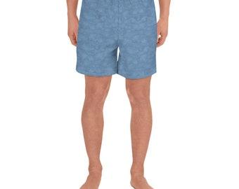 Men's Athletic Long Shorts Blue Wash