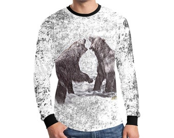 Men's Long Sleeve WildRness Grizzly Shirt