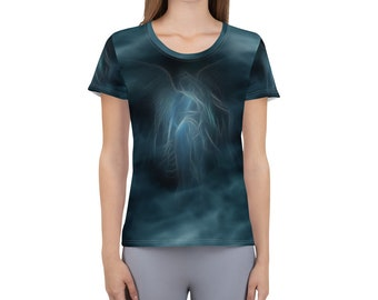 Women's Athletic T-shirt angel Blue