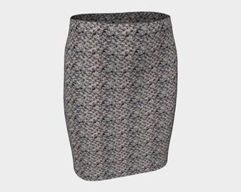 Dusk Grey Fitted Skirt