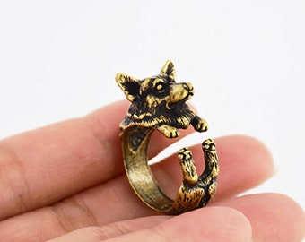 Corgi Adjustable Wrap Ring Bronze