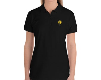 Womens Embroidered Women's Polo Shirt Logo