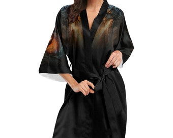 Women's Dragon Kimono Robe