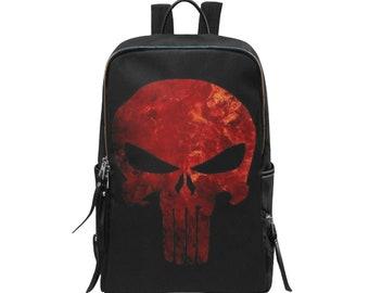 Backpack Slim Skull Print