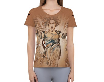 Women's Athletic T-shirt Resident Evil