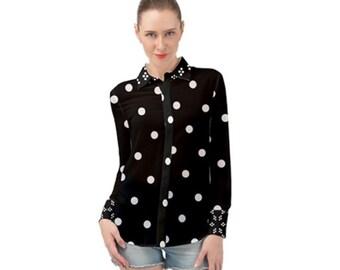 Women's Long Sleeve Chiffon Shirt