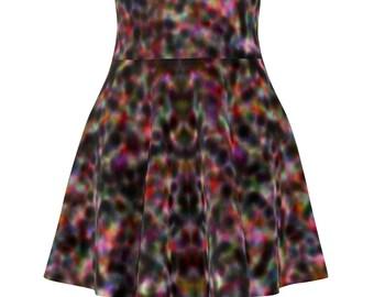 Women's Skater Skirt Color Splash