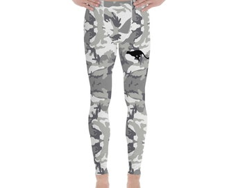 Men's Leggings Grey Camouflage
