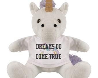 Dreams Come True Plush Unicorn Toy