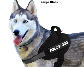 Service Police Dog Harness Set