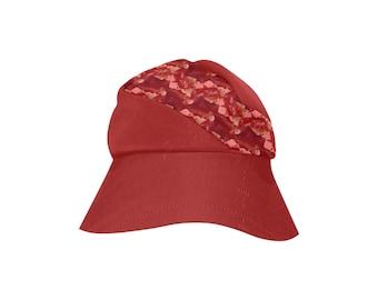 women's Bucket Hat Rosy Red