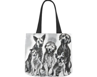 Canvas Tote Bag Dogs