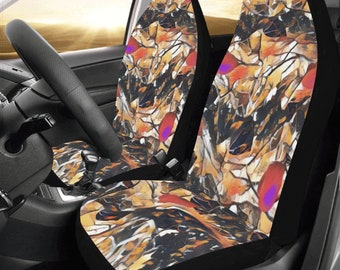 Bucket Car Seat Covers Pair Camo Color