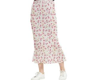 Women's Maxi Fishtail Skirt