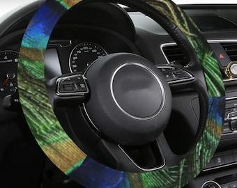 Steering Wheel Anti Slip Cover Peacock Print