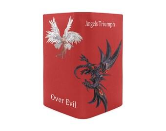 Women's Leather Folding Wallet Red Angel