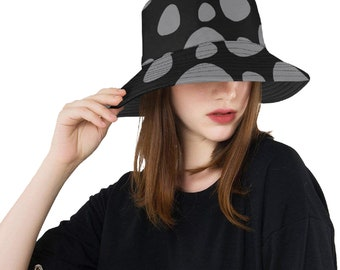 Bucket Hat Black Poka Dot
