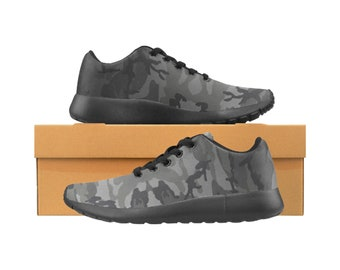 Men's Grey Camouflage Running Shoes