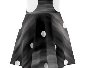WomenS Skater Skirt Night Moon