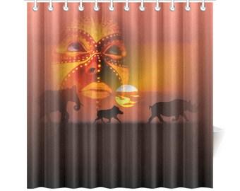 Shower Curtains African Wild