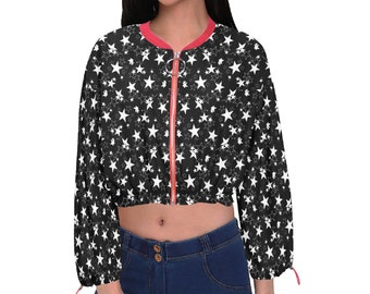 Women's Cropped Chiffon Jacket Starry Night