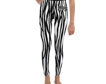 Youth Leggings Zebra Print