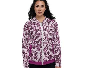 Unisex Bomber Jacket Pink Tango