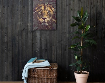 Lion Printed Canvas