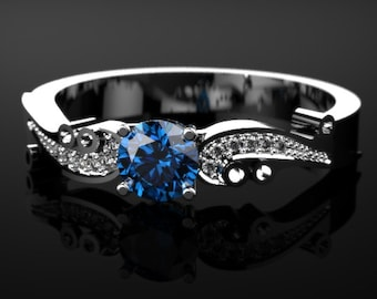 Sapphire White Gold Engagement Ring White Gold Sapphire Engagement Ring Sapphire Ring Sapphire White Gold White Gold Sapphire Ring December