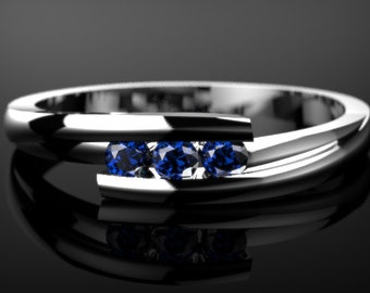 White Gold Sapphire Ring White Gold Sapphire Engagement Ring Sapphire Ring Sapphire White Gold White Gold Sapphire Ring December Birthstone