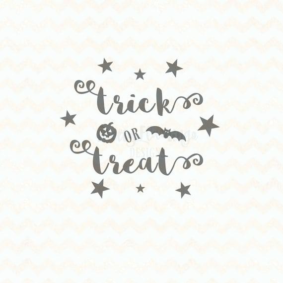 Trick or treat SVG, Halloween SVG File, halloween cutting file, halloween  decor DIY, cricut design space, silhouette studio file