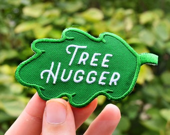 Tree Hugger Patch - Iron on Environmentalist Badge