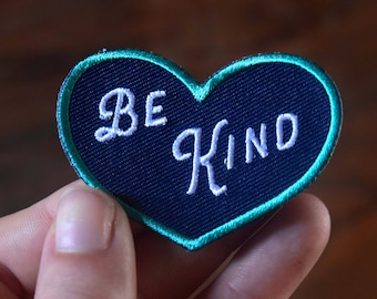 Mini Be Kind Patch - Mindfulness and Kindness Iron on Patches