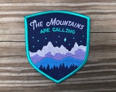 The Mountains are Calling Landscape Patch - Iron on Explorer Embroidered Badge