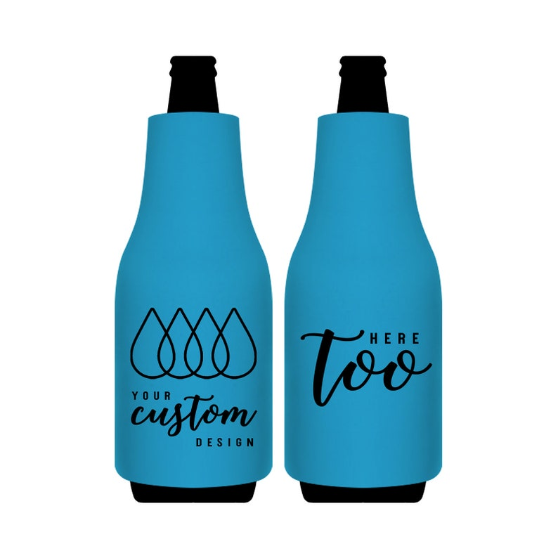 One Color Print Bottle Sleeves Coolers For Guests & Events Beer Bottle  Insulators Party Favors Gifts Promotional Items | Your Design or Logo