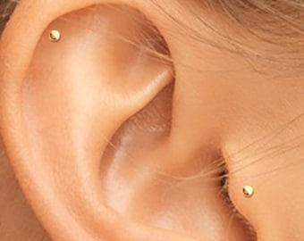 1e9c0470c Rose Gold Tragus, Rose Gold Helix Stud, Rose Gold Cartilage, Rose Gold  Labret, 14K Tragus Stud, 14K Helix Stud, 14K Labret