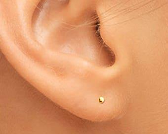 14K Gold Studs, Tiny Gold Earrings, Tiny Gold Studs, Gold Studs, Tiny Studs, Gold Stud Earrings, Small Gold Earrings, Small Gold Studs